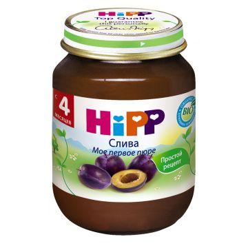 Детское пюре Детское питание Hipp слива с 4 мес. 125 г