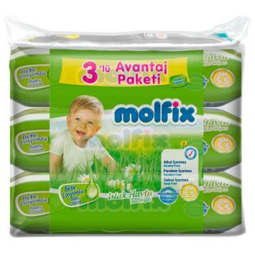 Влажные салфетки для детей Molfix с лосьоном 189 шт