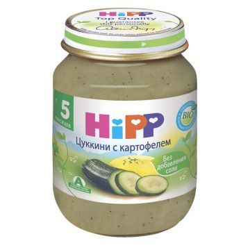 Детское пюре Детское питание Hipp кабачок с картофелем с 5 мес. 125 г