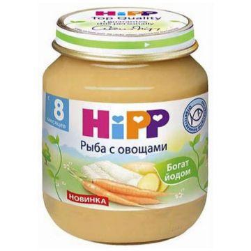 Детское пюре Детское питание Hipp рыба с овощами с 8 мес. 125 г