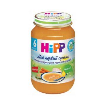 Овощной крем-суп Hipp с куриной грудкой с 6 мес. 190 гр