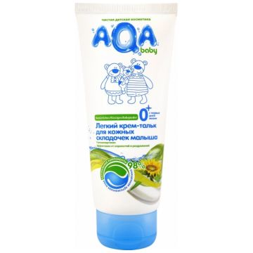 Крем-тальк лёгкий Aqa Baby для кожных складочек малыша 100 мл