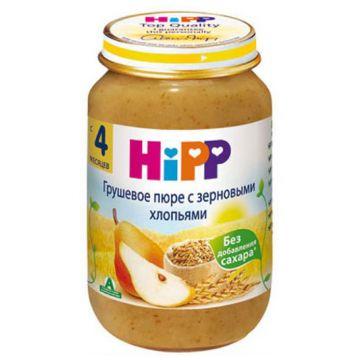 Детское пюре Детское питание Hipp грушевое с зерновыми хлопьями 1 ступень 190 г