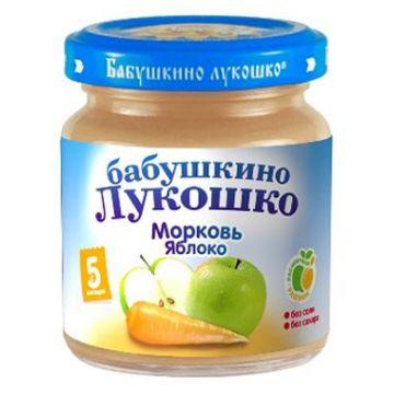 Детское пюре Бабушкино Лукошко Яблоко морковь с 5 мес. 100 г