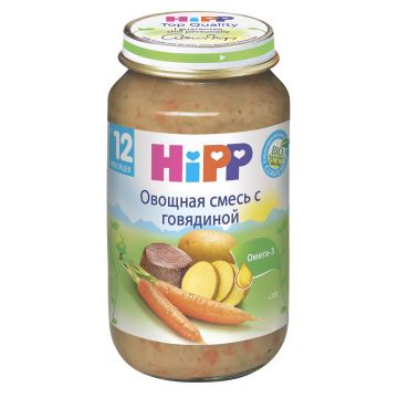 Детское пюре Детское питание Hipp овощное рагу с говядиной с 12 мес. 220 г
