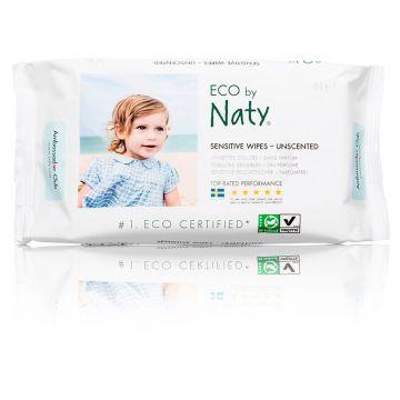 Влажные салфетки для детей Naty без запаха 56 шт