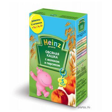 Каша Heinz овсяная с персиком и молоком 1 ступень 250 г