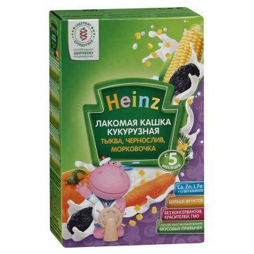 Каша Heinz Лакомая кукурузная тыква чернослив морковочка 1 ступень 200 г