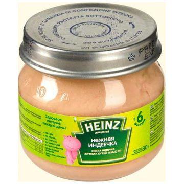 Детское пюре Heinz нежная индеечка с 6 мес. 80 г