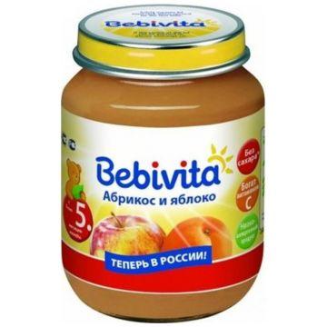 Детское пюре Bebivita Абрикос и Яблоко с 5 мес. 100 г