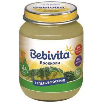 Детское пюре Bebivita Брокколи с 45 мес. 100 г