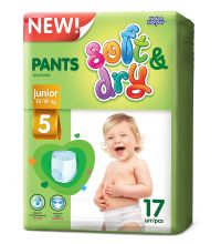 Трусики Helen Harper Soft&Dry junior (12-18 кг) 17 шт