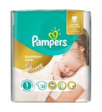 Подгузники Pampers Premium Care Newborn (2-5 кг) 22 шт