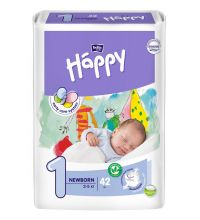 Подгузники Bella Baby Happy, размер NB (2-5 кг) 42 шт