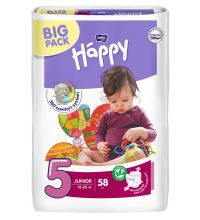 Подгузники Bella Baby Happy, размер Junior (12-25 кг) 58 шт