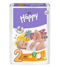 Подгузники Bella Baby Happy, размер Mini (3-6 кг) 38 шт