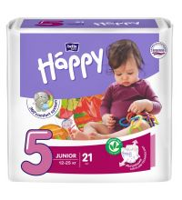 Подгузники Bella Baby Happy, размер Junior (12-25 кг) 21 шт