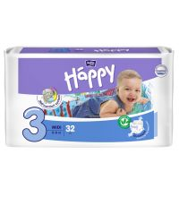 Подгузники Bella Baby Happy, размер Midi (5-9 кг) 32 шт
