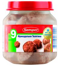 Детские мясные пюре купить детское питание с мясом в Москве в  Детское пюре semper фрикадельки телятина с 9 мес 125 г