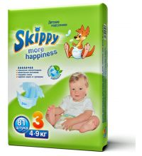 Подгузники Skippy More Happiness размер M (4-9 кг) 81 шт