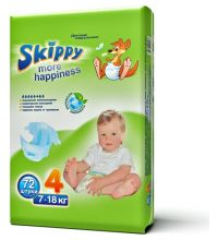 Подгузники Skippy More Happiness размер L (7-18 кг) 72 шт